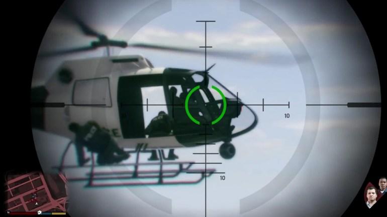 Снайперы на вертолете
