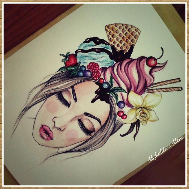 print na bumage by alena abzhalilova